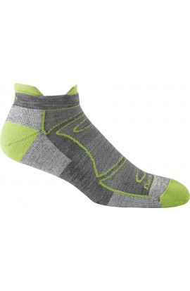 DARN TOUGH MENS NO SHOW LIGHT CUSHION - GREEN/GREY (1722)