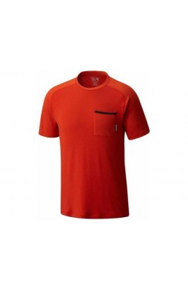 MOUNTAIN HARDWEAR COOLHIKER AC TEE MENS - BONFIRE