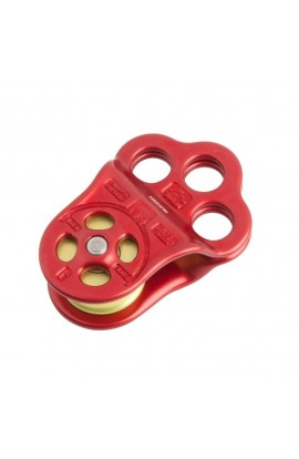 DMM TRIPLE ATTACHMENT PULLEY - RED