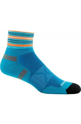 DARN TOUGH VERTEX 1/4 SOCK ULTRALIGHT CUSHION - TEAL (1009)