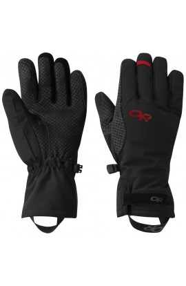 OR WOMENS OURAY AEROGEL GLOVES - BLACK/TOMATO