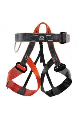 CLIMBING TECHNOLOGY DISCOVERY HARNESS - ONE SIZE - BLACK/ORANGE