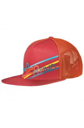 LA SPORTIVA TRUCKER HAT STRIPE 2.0 - CARDINAL RED/ FLAME