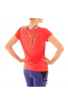 3RD ROCK ORANGI TEE - HOT CORAL