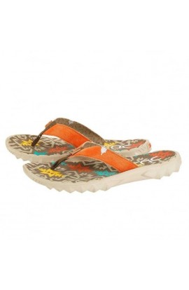 DUDE SAVA CANVAS FLIP FLOP - INCAS RUST