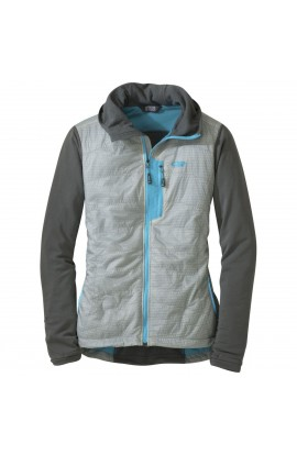 OUTDOOR RESEARCH DEVIATOR HOODY WOMENS - ALLOY/PEWTER