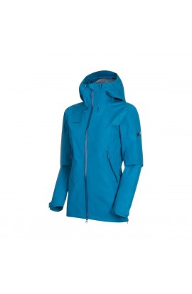 MAMMUT RIDGE HOODED JACKET WOMENS - SAPPHIRE