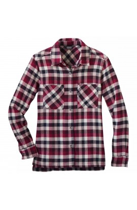 OUTDOOR RESEARCH FEEDBACK FLANNEL SHIRT WOMENS - BEET PLAID