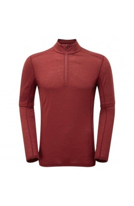 MONTANE PRIMINO 140 ZIP NECK - REDWOOD