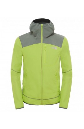 THE NORTH FACE SUMMER SOFTSHELL HOODED JACKET MENS 2016 - MACAW GREEN