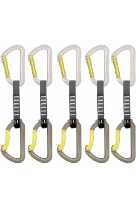 DMM AERO QUICKDRAW - 12CM - SILVER/LIME - 5 PACK