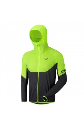 DYNAFIT MENS VERTICAL WIND 72 JACKET - FLUORO YELLOW