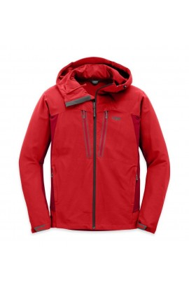 OUTDOOR RESEARCH FERROSI SUMMIT HOODED JACKET MENS - HOT SAUCE/AGATE