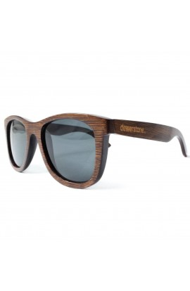 DEWERSTONE CIRROS SUNGLASSES - POLARIZED - STAINED WOOD BAMBOO