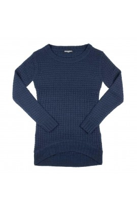 DEWERSTONE KNITTED SWEATER DRESS - NAVY