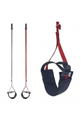 METOLIUS EASY AIDER ADJUSTABLE FOOT SLING - RED LEFT
