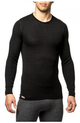 WOOLPOWER 200 CREWNECK - BLACK