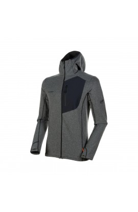 MAMMUT ACONCAGUA LIGHT HOODED JACKET MEN - BLACK