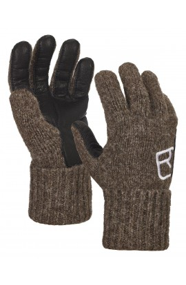 ORTOVOX SWISSWOOL CLASSIC GLOVE LEATHER - BLACK SHEEP