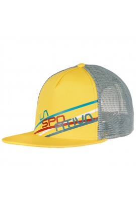LA SPORTIVA TRUCKER HAT STRIPE 2.0 - LEMONADE/STONE BLUE