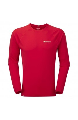 MONTANE SONIC LONG SLEEVE TEE - ALPINE RED
