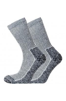 HORIZON HERITAGE COOLMAX OUTDOOR SOCK - BLACK MARL 2PK