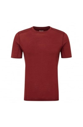 MONTANE PRIMINO 140 T-SHIRT MENS - REDWOOD