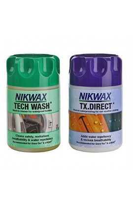 NIKWAX TWIN PACK TECH WASH/TX DIRECT - 100&150ML (ONE USE)