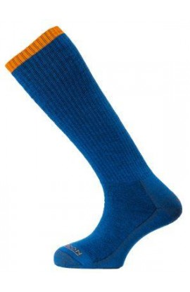 HORIZON PREMIUM MOUNTAINEER SOCK MENS - NAVY MARL/AMBER