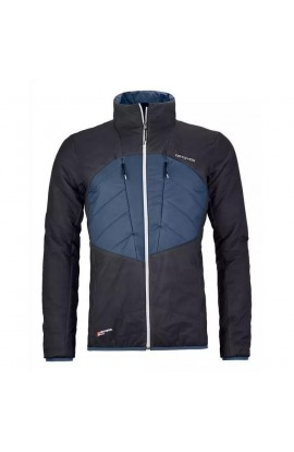 ORTOVOX SWISSWOOL DUFOUR JACKET - BLACK RAVEN BLUE