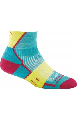DARN TOUGH BPM 1/4 SOCK WOMENS - TEAL (1798)