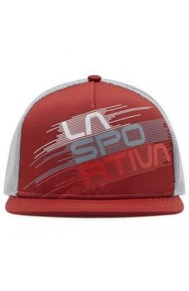 LA SPORTIVA TRUCKER HAT STRIPE EVO - CHILI/CLOUD