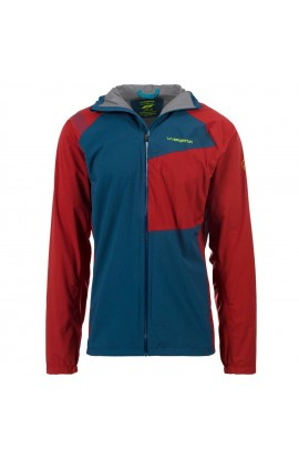 LA SPORTIVA RUN JACKET - OPAL/CHILI