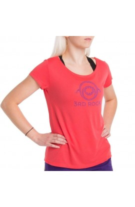 3RD ROCK MONS-TEE WOMENS - CORAL