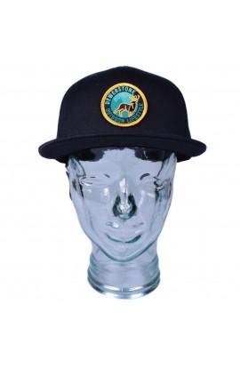 DEWERSTONE STAG ORGANIC FLAT PEAK SNAPBACK CAP - BLACK
