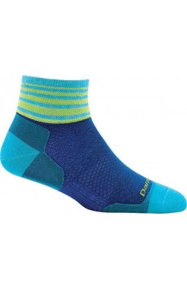 DARN TOUGH WOMENS 1/4 SOCK ULTRA LIGHT - MARINE STRIPE (1783)