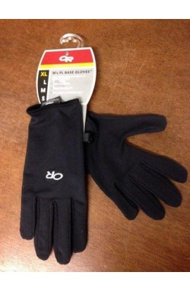 OUTDOOR RESEARCH PL BASE GLOVE - XL - BLACK