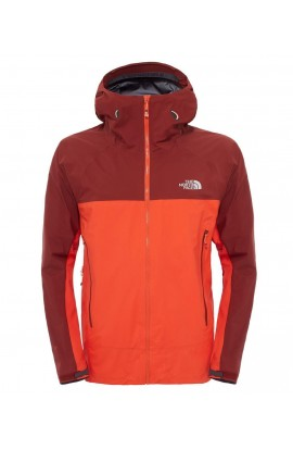 THE NORTH FACE POINT FIVE JACKET MENS - ACRYLIC ORANGE/BRICK HOUSE RED