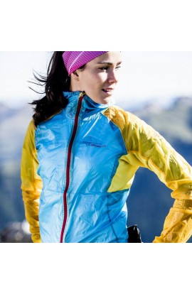 LA SPORTIVA BRIZA WINDBREAKER WOMENS - MALIBU/YELLOW