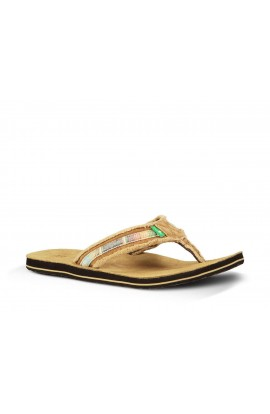 SANUK FRAID SO FLIP FLOP - TAN MULTI