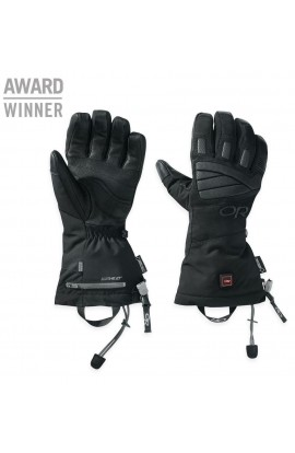 OUTDOOR RESEARCH LUCENT HEATED GLOVES - XL - BLACK