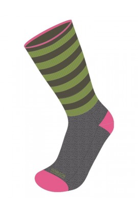 HORIZON LEISURE LIFESTYLE SOCK MENS BAMBOO - CHARCOAL MARL/APPLE