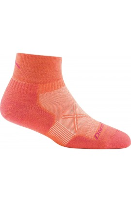 DARN TOUGH WOMENS 1/4 SOCK ULTRA LIGHT CUSHION - CORAL (1761)