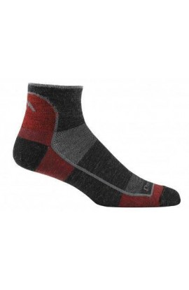 DARN TOUGH MENS 1/4 SOCK ULTRA LIGHT NON CUSHION - TEAM DTV (1715)