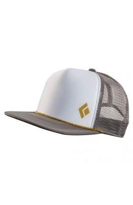 BLACK DIAMOND FLAT BILL TRUCKER HAT - GRANITE/WHITE