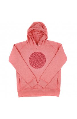 DEWERSTONE RETRO WAVE HOODY WOMENS - CORAL