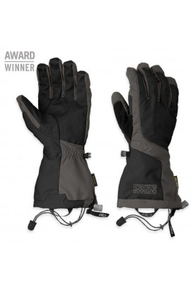 OUTDOOR RESEARCH ARETE GLOVES MENS - BLACK/CHARCOAL