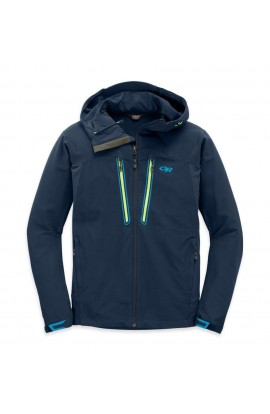 OUTDOOR RESEARCH FERROSI SUMMIT HOODED JACKET MENS - NIGHT/LEMONGRASS