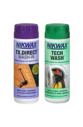 NIKWAX TWIN PACK TECH WASH/TX DIRECT - 300ML X2