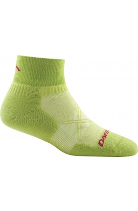 DARN TOUGH WOMENS 1/4 SOCK ULTRA LIGHT CUSHION - GREEN (1761)